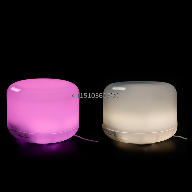 Aroma Diffuser Atomizer Air Humidifier LED Ultrasonic Purifier Fragrant 500mL PP #Y05# #C05# aroma diffuser atomizer air humidifier led ultrasonic purifier fragrant 300ml pp y05 c05