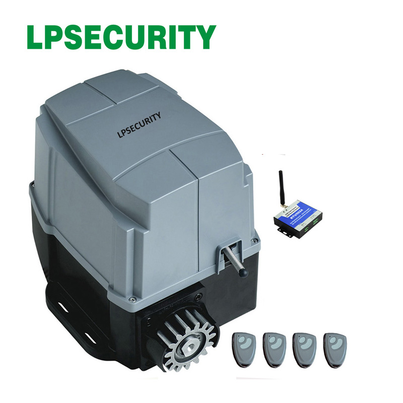 LPSECURITY 1200kg AC engine automatic gate system electric GSM sliding gate door opener motor foresee with optional parts 240v automatic electric sliding gate opener for 600kgs door weight compatible with gsm gate opener gsm gate opener not included