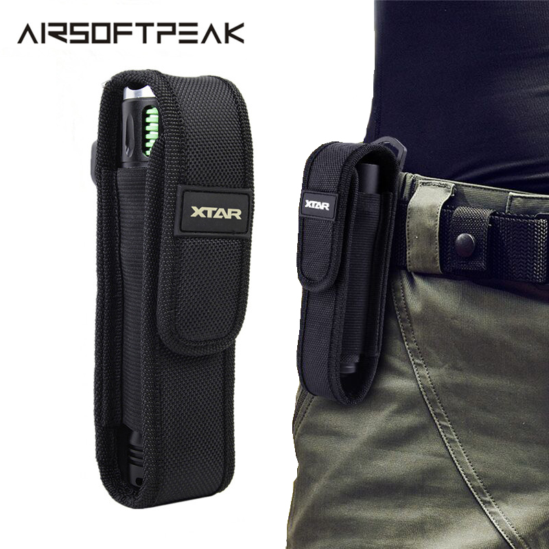 AIRSOFTPEAK T220 Outdoor Flashlight Pouch LED Torch Flashlight Pouch Holster Camping Hiking Belt Pouches Tactical For Fenix TZ20