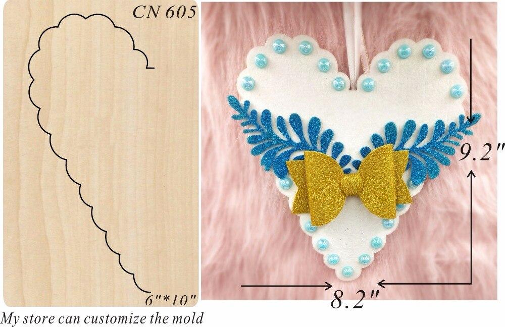 Petal heart shape wood moulds die cut accessories wooden die Regola Acciaio Die Misura