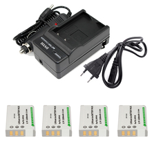 4Pcs 3.7V 2200mAh NP-95 NP 95 NP95 Battery + Charger for Fujifilm X30 X100 X100S X100T X-S1 F30 F31 F30fd F31fd 3D W1 Wholesale
