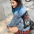 BringBring 2016 Spring Autumn Harajuku Letters Denim Jacket Women Loose Hole Ripped Jeans Jacket BF style chaquetas mujer 1572