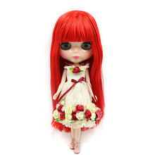 Factory Neo Blythe Doll Matte Face Long Blonde Hair Jointed Body Free Gifts 30 cm