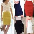 Pencil Skirts Womens High Waist Slim Over Hips Formal Saias Feminino Lady Classic Knee-Length Office Skirts faldas mujer