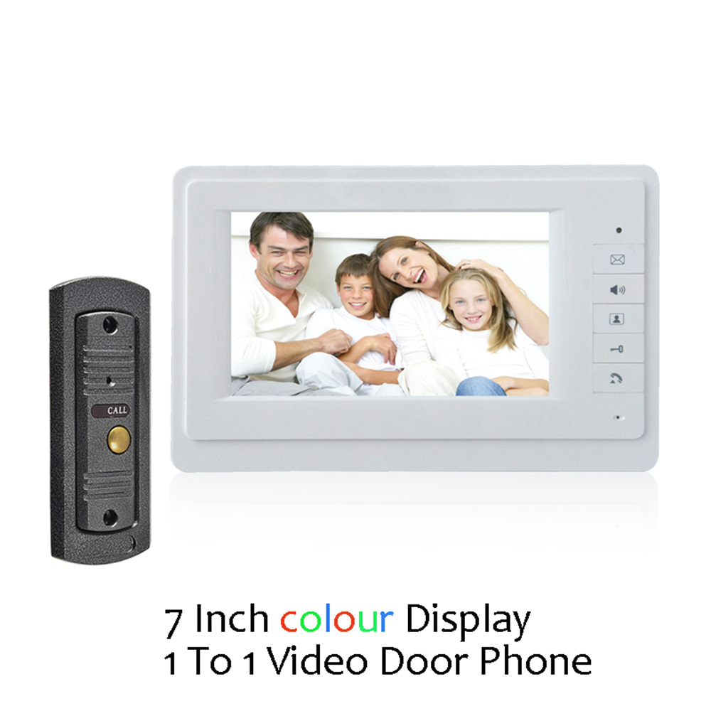 (1 set) Home use 1 to 1 Video door phone smart home system Video intercom waterproof camera 7 inch color monitor free shipping(1 set) Home use 1 to 1 Video door phone smart home system Video intercom waterproof camera 7 inch color monitor free shipping