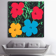 Huge FLOWERS by Andy Warhol pop art print Wall Painting picture Home abstract font b Decorative