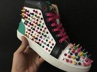 Мужская обувь кроссовки Роскошная обувь для свадебной вечеринки, Пояса из натуральной кожи louisfalt шипы Кружево на шнуровке Повседневная обу
