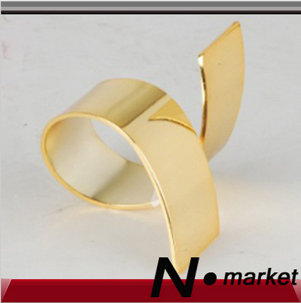 free shipping factory sale golden silver whirling q napkin rings for wedding target restaurant napkin holders - Target Wedding Rings