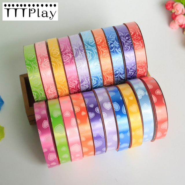 1pcs Colorful Printed Balloon Ribbons Foil Balloon Ribbons 16cm