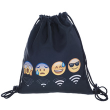 Fashion High Quality Women Girls Drawstring Sports Shoe Dance Bag School Storage Backpack