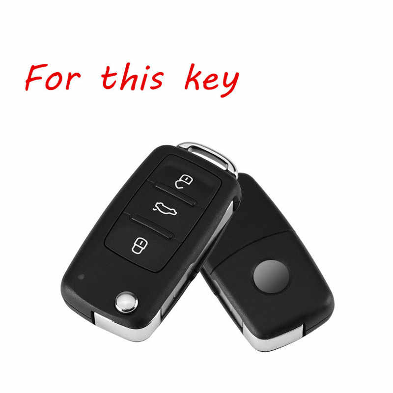 Chiave Della Lega di alluminio Della Copertura di Caso Per VW Volkswagen Golf 4 5 6 Bora Jetta Polo Passat B5 B6 Skoda Superb octavia Fabia Seat