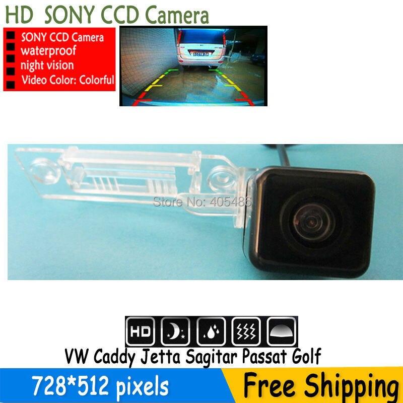 WATERPROOF parking car rear view camera HD SONY CCD camera for VW GOLF PASSAT TOURAN CADDY