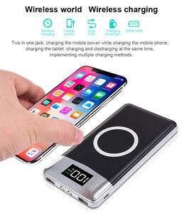 Image 2 - チーワイヤレス充電器 Protable の外部バッテリ電源銀行デュアル USB 電話充電 iphone 8 サムスン S8 注 8 9 bateria 充電