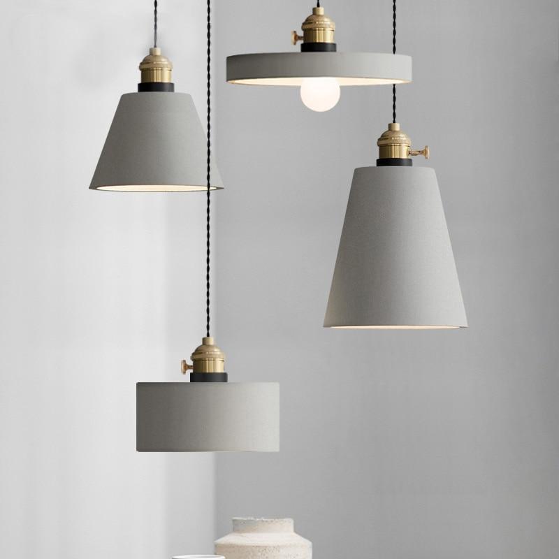 Industrie Retro Nostalgie Zement Hängen Lampe Kreative Loft Eisen Pendelleuchte E27 Cafe Bar Lichttechnik Art Deco PL684 - 3