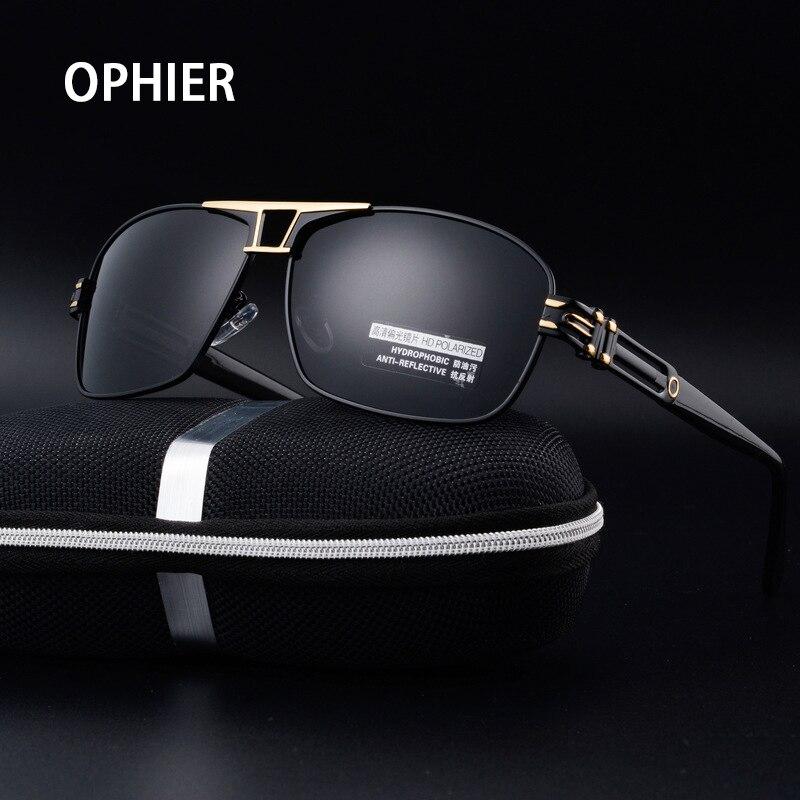 купить OPHIER Polaroid Men Polarized Sunglasses Brand Designer Fashion Vintage Sun Glasses Male Driving Mirror oculos de sol masculino