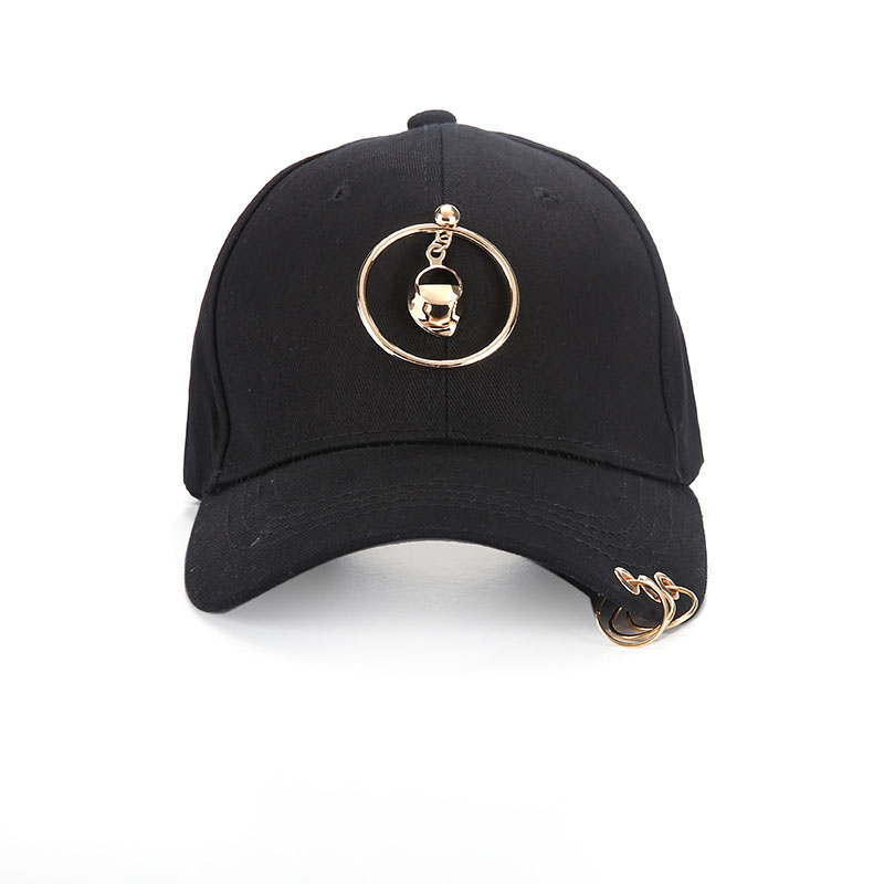 Badinka 2018 New Summer Simple Black Baseball Cap With Ring for Men Women  Hop Fitted Cap Snapback Dad Hats Cap Style Casual f89dabe2b2f