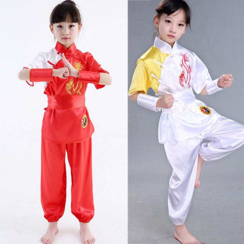 Детские традиционные китайские костюмы ушу, униформа для боевых искусств, костюм кунг фу для детей, комплект одежды для выступлений и выступлений для мальчиков и девочек|Танцевальный костюм для китайских народный танцев| | АлиЭкспресс