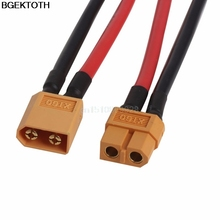 1Pair XT60 Battery Connector Cable Male Female Plug Wire 10cm for DJI Phantom