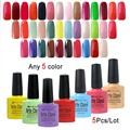 Arte Clavo 5 Bottles (Choose 5 Colors) x 8ml Nail Kit Manicure Luminous Gel Builder Gel Polish Set UV Color Gel