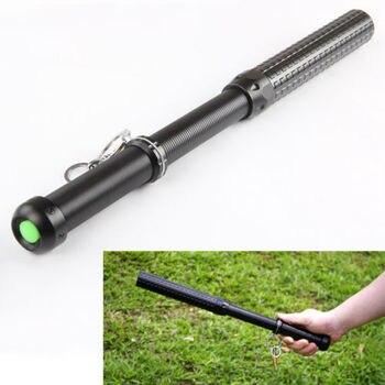 1800LM Q5 телескопический зум, длинный тактический фонарик для самообороны, бейсбольная летучая мышь, 3 режима