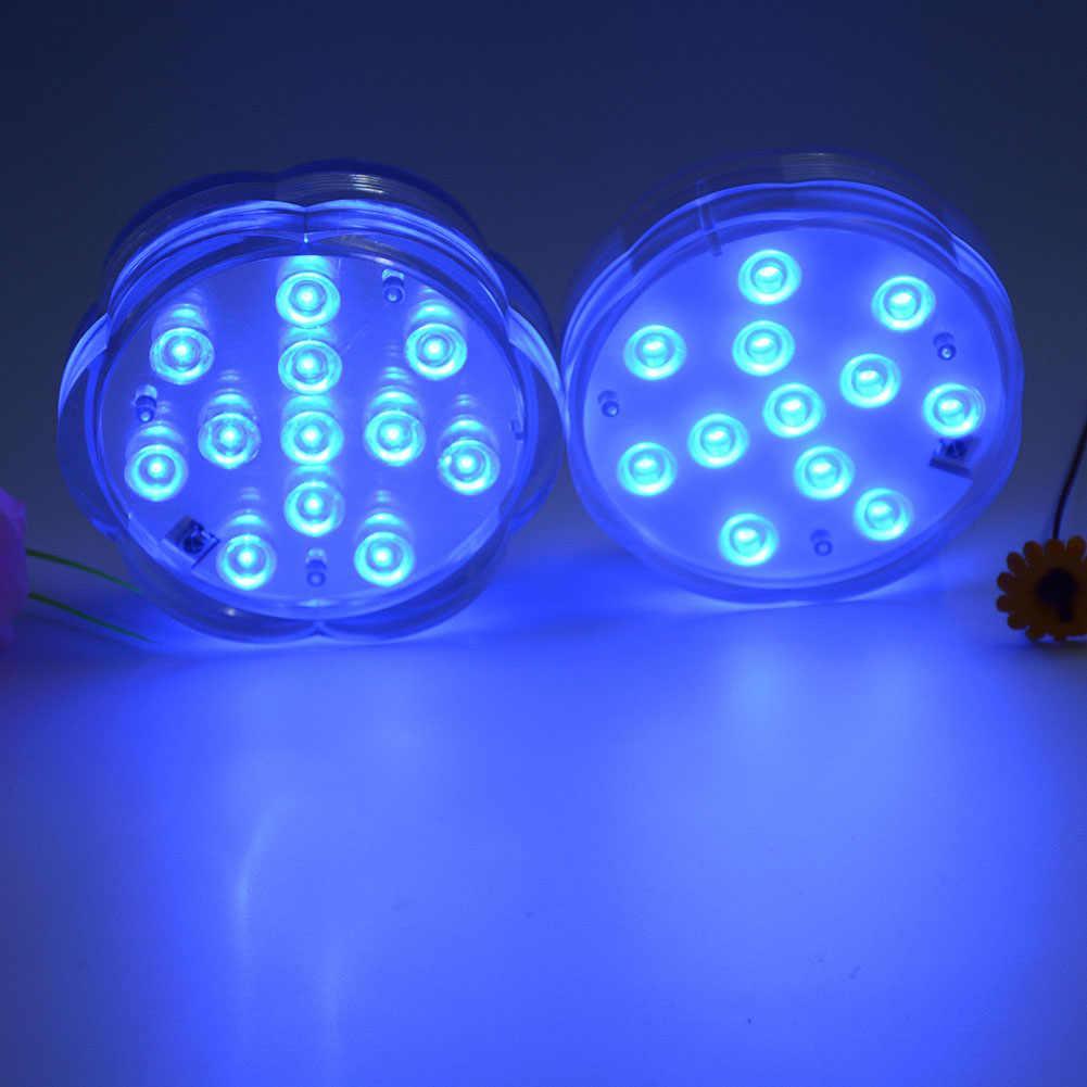 4 шт./компл. плавательный парковое светодиодное освещение лампа Погружной подводный пульт дистанционного управления пруд Декор RGB лампа LKS99