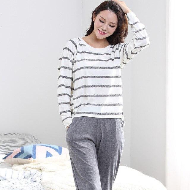 2017 100% Хлопок 3XL Большой Размер Геометрическая плюс размер ночное большой размер Пижамы Пижамы Женщины Пижамы Пижамы Хлопка