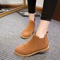 COOTELILI Otoño Invierno de Cuero De Gamuza Botines Talones Planos 9 Colores Del Caramelo Oxford Zapatos Casual Mujer Envío Gratis