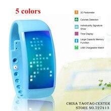 new orginal Health smart pedometer intelligent wearable wristband bracelet USB Smart Watch 8G memory USB Charging free shipping