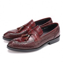 New Fashion High Quality Black Red Wedding Shoes Mens Dress Genuine Cow Leather Oxfords Male Business JS-A0057