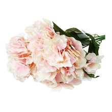 Best selling Artificial Hydrangea Flower 5 Big Heads Bounquet (Diameter 7 each head) 9 Colors Avaliable Pink