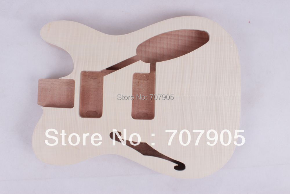 1x Electric guitar body Unfinished Mahogany body flame maple veneer top free shipping 2017 new arrival high quality flame maple top g les standard brown electric guitar lp guitar