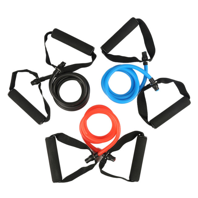 1Pcs Yoga Fitness Equipment Resistance Exercise Band Tubes Stretch Workout Pilates Home Gym Training Equipment 2019 Hot Sale 5