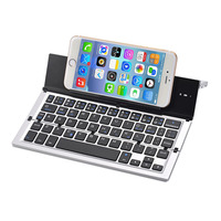 Portable Bluetooth Wireless Foldable Keyboard Mini Keypad Holder for IOS Android Windows Table PC IJS998