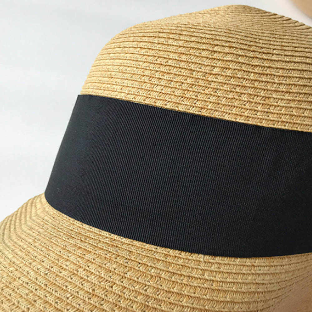 Moda dzikie podróży kapelusz kobiet fala splot kapelusze słomkowe składany słomkowy kapelusz z szerokim rondem na co dzień na zewnątrz letnie plaży kapelusz kobiet czapka z daszkiem