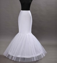 2018 Women Mermaid Petticoat 1 Layer Ruffle Tulle For Fistail Bridal gown Underskirt Wedding Accessories