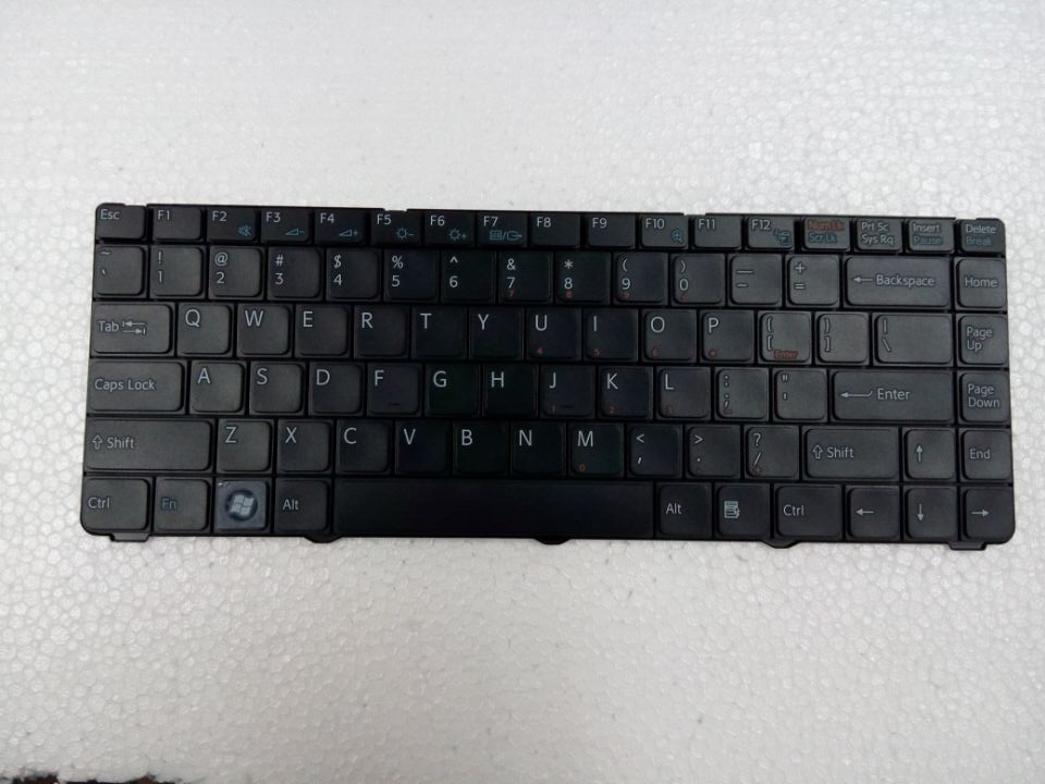 Brand New original keyboard  ForSony Vaio VGN-NR VGN-NS VGN NR NS  with frame Service US version BLACK  colour US Layout цена и фото