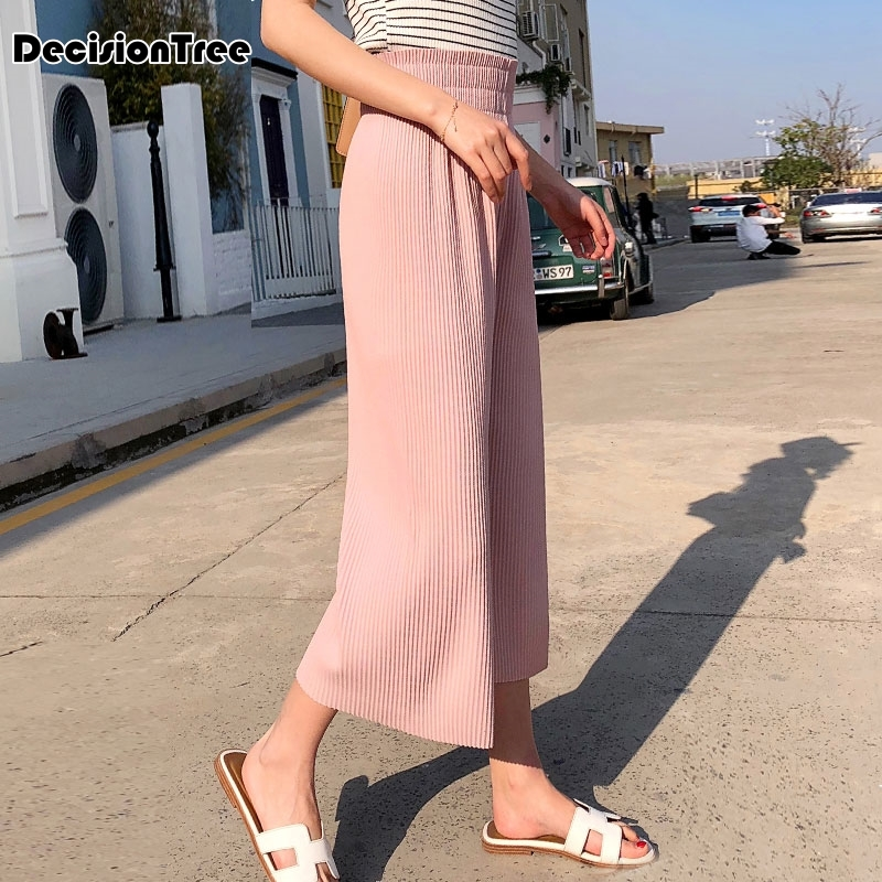 2019 summer loose print pink flower floral harem   pants     capri   bottoms sweatpants high waist female   pants   women wide leg trousers