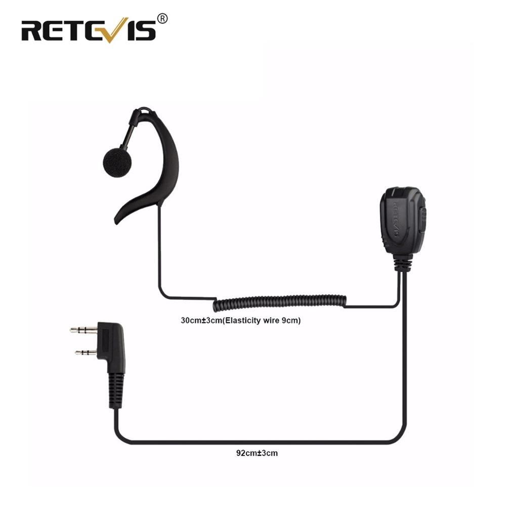 New Retevis C Type Earpiece Walkie Talkie Headset For Retevis RT23 Two Way Radio J9122A