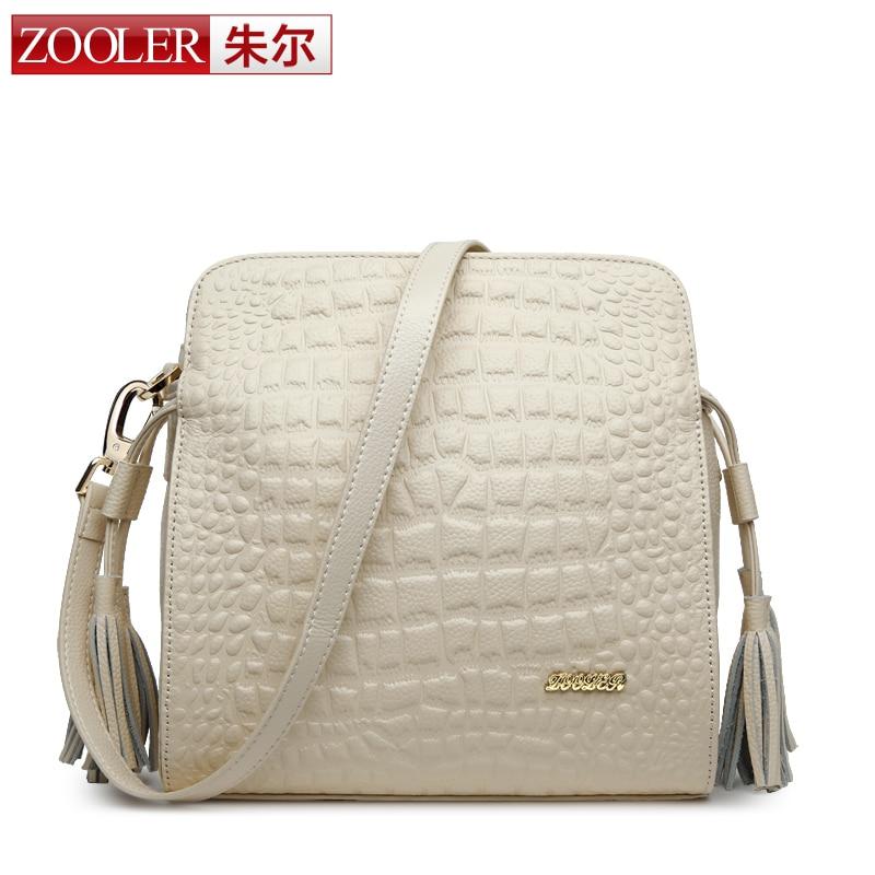 ФОТО ZOOLER BRAND Genuine Leather Bags small bag 2016 Summer New Fashion cross body bags crocodile printed women messenger bags#6082