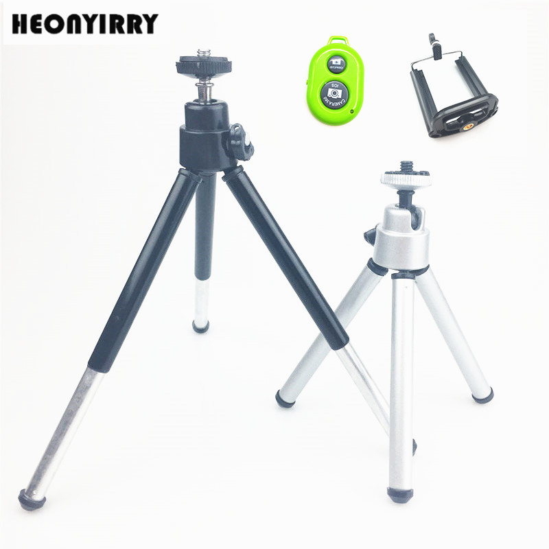 Mini Tripod For Camera Tripode for iphone 6s 7 Xiaomi With Phone Clip Tripod Stand Mount for Nikon Gopro 5 4 Session Yi Camera universal cell phone holder mount bracket adapter clip for camera tripod telescope adapter model c