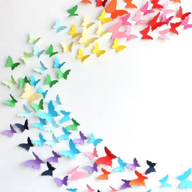 40pcs 13 Colors Big Butterfly Paper Cut Home Decoration 5171