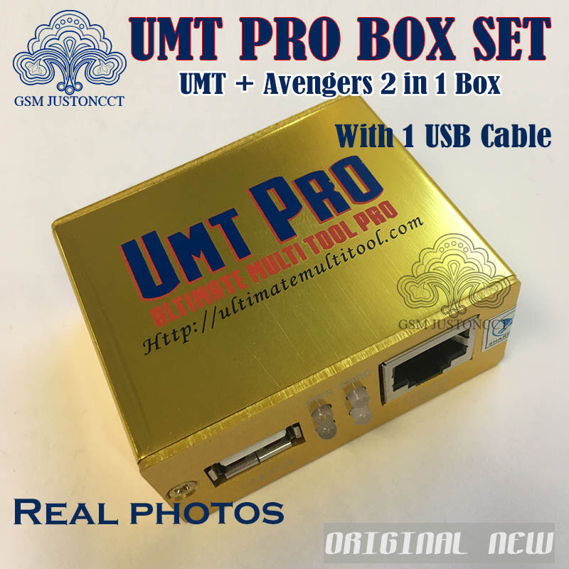 2018 Newest 100% Original UMT PRO BOX Umt Pro + Avengers 2in1 Box With 1  USB Cables