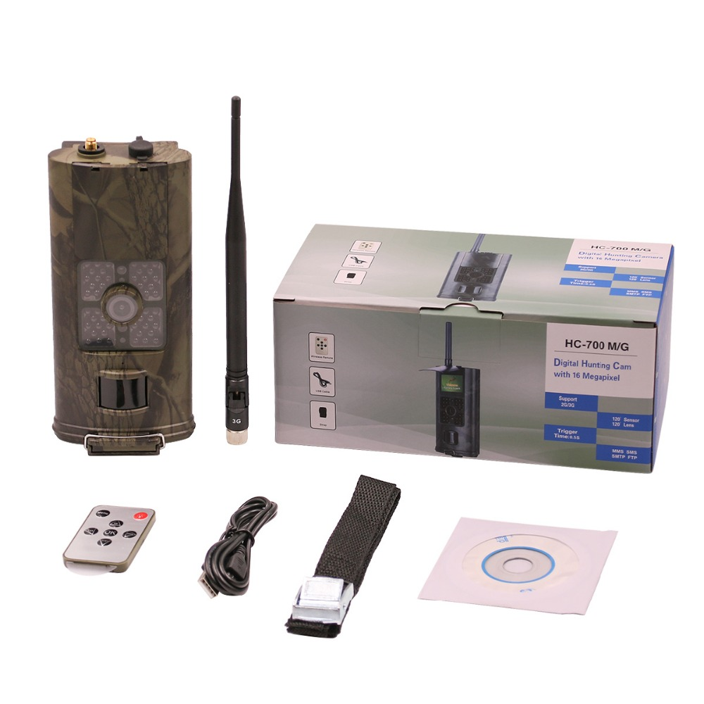 Infrared hunting trail camera hc700g 16MP GPRS MMS SMTP GSM 3G Photo traps scoutguard time lapse wireless hunting trail camera 32gb hunting camera mms smtp gprs 3g
