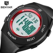 купить BENYAR Top Brand Luxury Men's Watches Waterproof Watch Men LED Digital Stopwatch Date Sport Wrist Watch Clock Relogio Masculino по цене 857.32 рублей