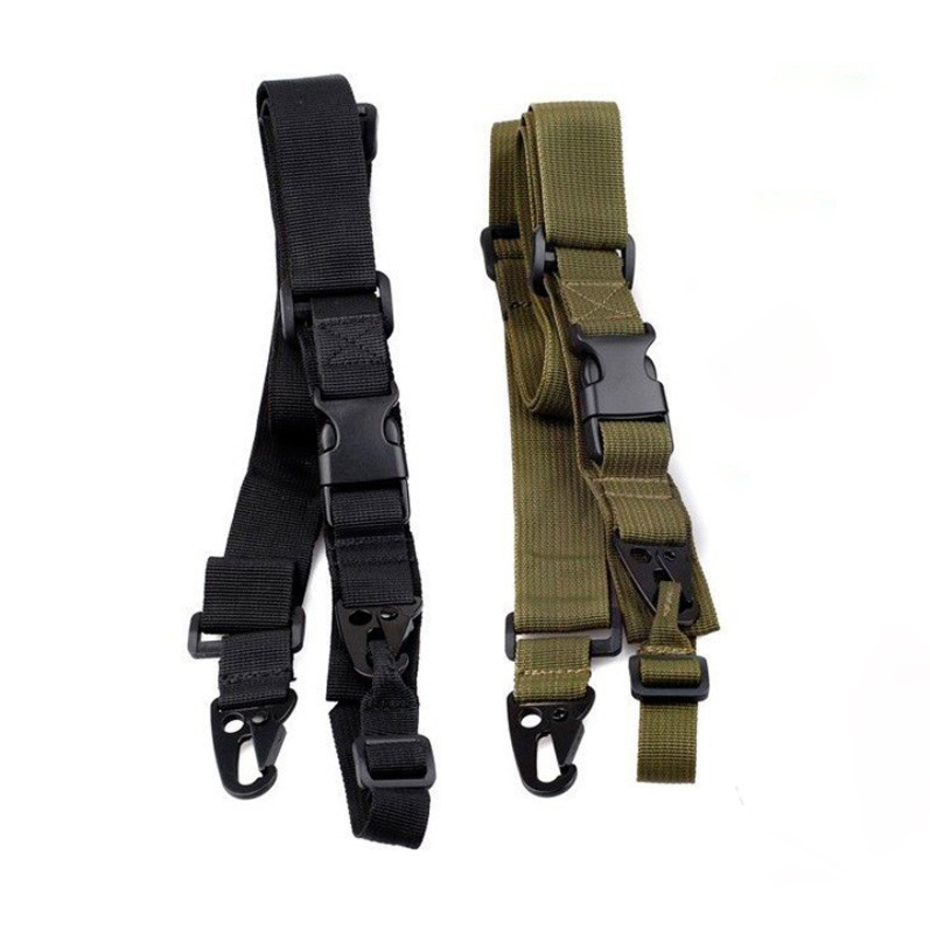 3 Point Airsoft Hunting Belt Outdoor Camping Hunting Military Tactical Multifunctional System Rifle Shot Gun Sling Strap tactical military 3 point rifle gun sling strap army green 235cm