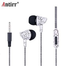 Sport Earphone Wired Headphones Super Bass 3.5mm Crack Earphone Earbud with Microphone Hands Free Headset for Samsung MP3 MP4(China)