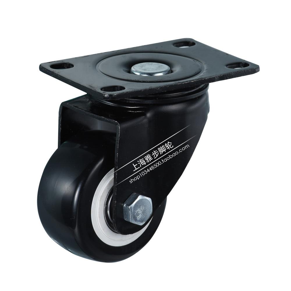 Универсальный Mute колеса 2 Замена офисные кресла поворотный МНЛЗ резиновые Роллинг ролика Колёса Мебельная фурнитура