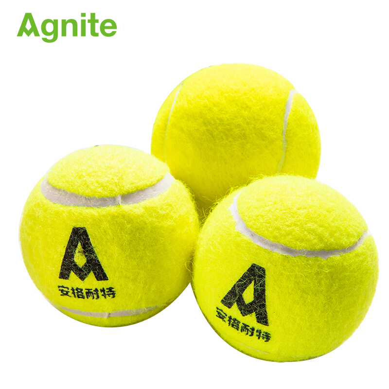Agnite Quality Rubber Woolen Tennis Balls Standard For Training 3 Pcs Indoor And Ourdoor Tennis Courts Storage Bottle Dropship