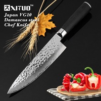 XITUO High Quality 8 Kitchen Knife Japanese Damascus Vg10 Steel Chef Knife Sharp Handmade Santoku Cleaver