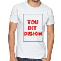 Customized T Shirt Print Your Own Design DIY Photo Text Logo High Quality
